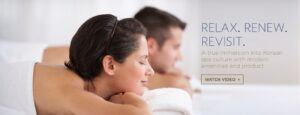 Immersion Spa web banner showing video